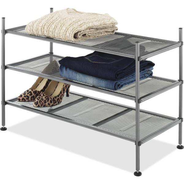 Mesh Shelves 3Tier Gunmetal   Walmart com Mesh Shelves 3Tier Gunmetal