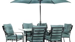 Hanover Outdoor Lavallette Table Umbrella, Ocean Blue