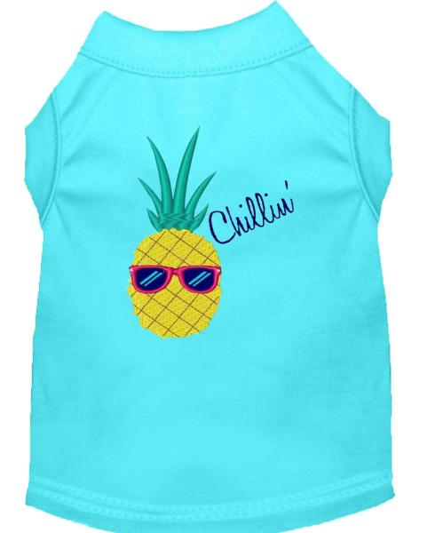 Pineapple Chillin Embroidered Dog Shirt Aqua Med  12    Walmart com Pineapple Chillin Embroidered Dog Shirt Aqua Med  12