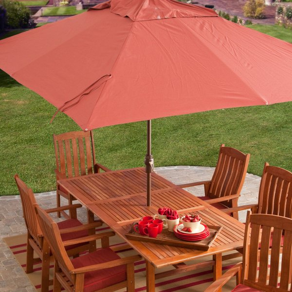 Coral Coast 8 x 11 ft  Aluminum Rectangle Patio Umbrella   Walmart com Aluminum Rectangle Patio Umbrella   Walmart com