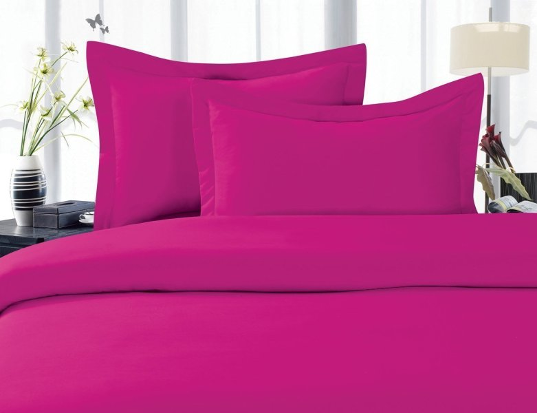 Holiday Gift WRINKLE FREE 3 Piece Duvet Cover Set  Full Queen  Hot     Holiday Gift WRINKLE FREE 3 Piece Duvet Cover Set  Full Queen  Hot Pink    Walmart com