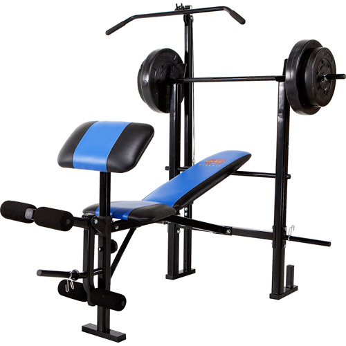 Marcy Classic Mcb 252 Combo Bench With 120 Lb Weight Set