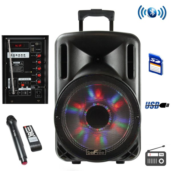 Party Pa Dj Speaker System 2500W Karaoke Machine 12  Portable     DETAILS  Party Pa Dj Speaker System