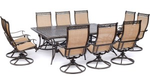 Hanover Manor 11 Piece Outdoor Dining Set In Cedar With 10