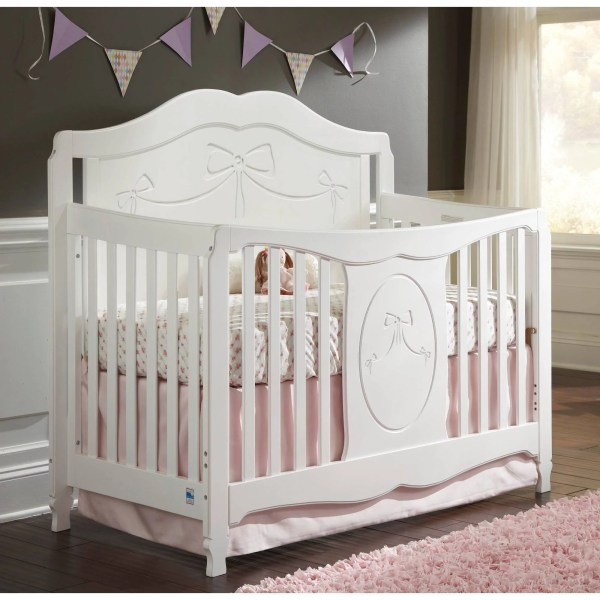Storkcraft Princess 4 in 1 Convertible Crib White   Walmart com