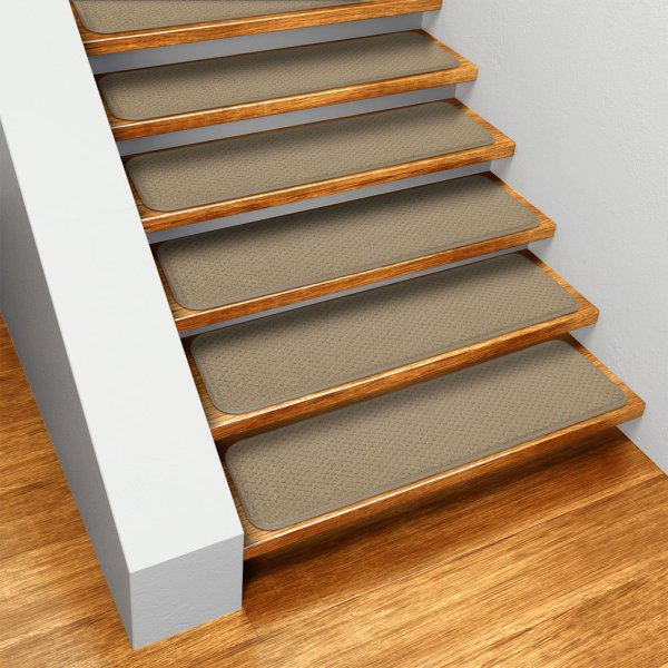 Carpet Stair Treads Set of 12 Skid resistant Carpet Stair Treads   Camel Tan   8 In