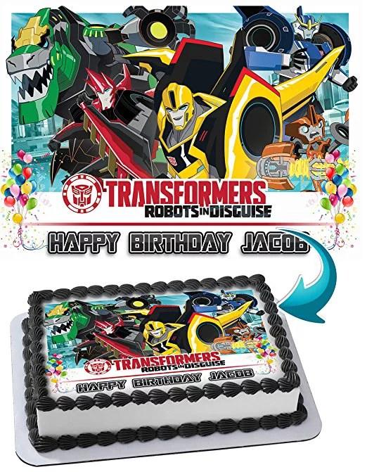Dinotrux Transformers Robots Dinosaur Edible Image Cake