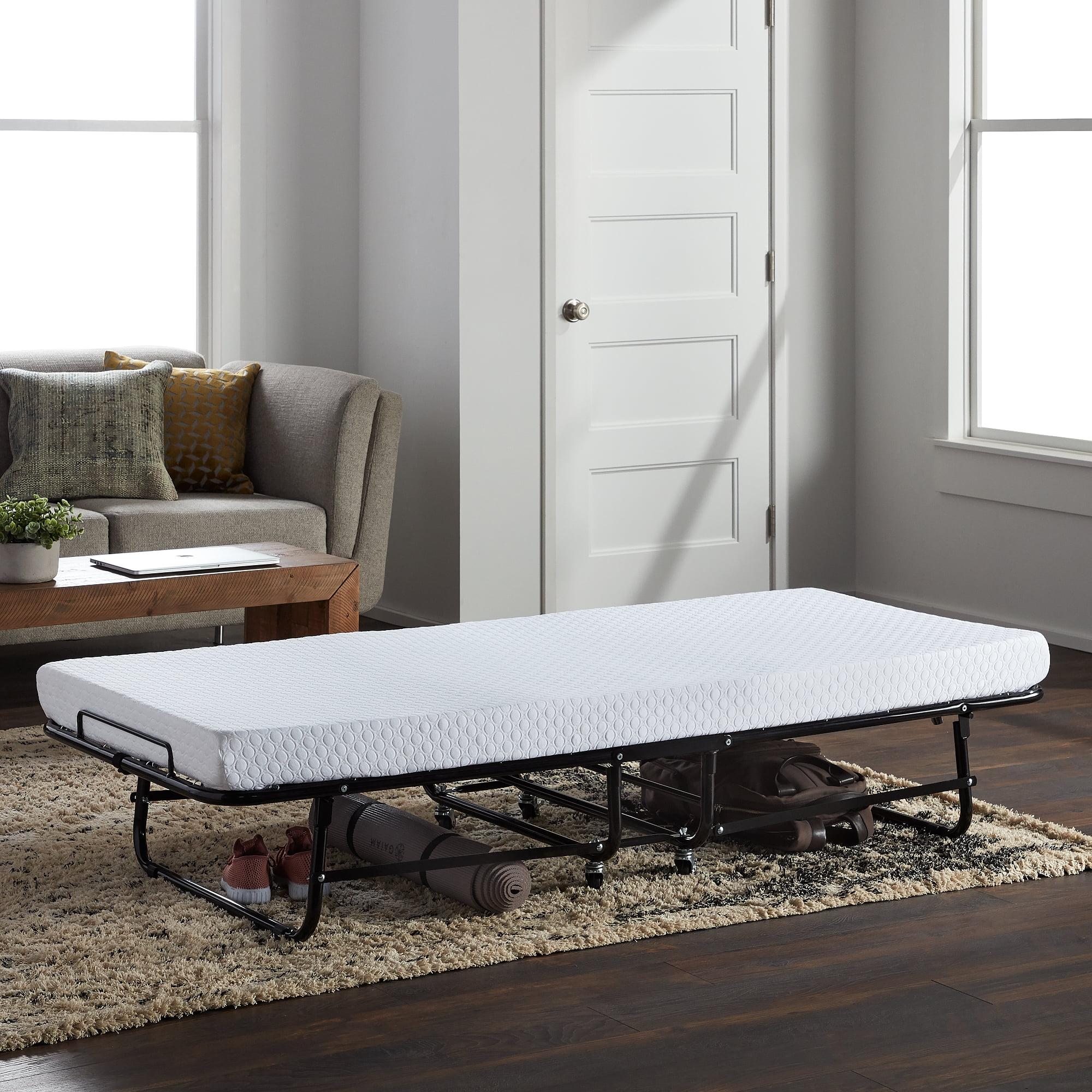 Lucid Rollaway Folding Guest Bed With Memory Foam Mattress