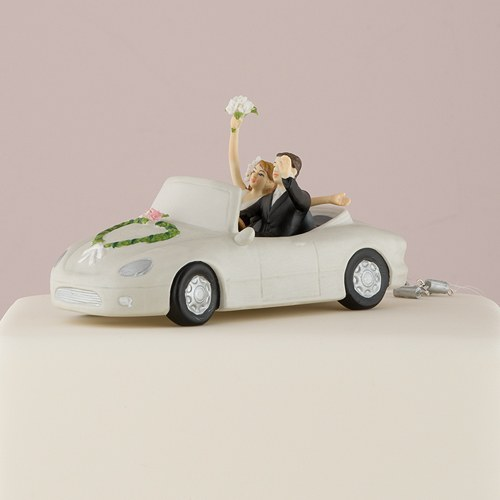 Honeymoon Bound Couple In Car Wedding Cake Topper   Walmart com Honeymoon Bound Couple In Car Wedding Cake Topper