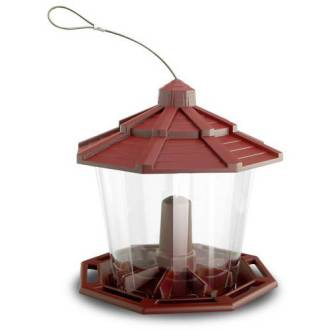 Pennington Cedar Grand Chalet Wild Bird Feeder  14 lb  seed capacity     Pennington Cedar Grand Chalet Wild Bird Feeder  14 lb  seed capacity and 2  suet cakes   Walmart com