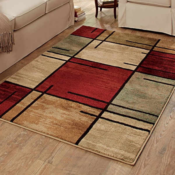 Better Homes and Gardens Spice Grid Area Rug   Walmart com