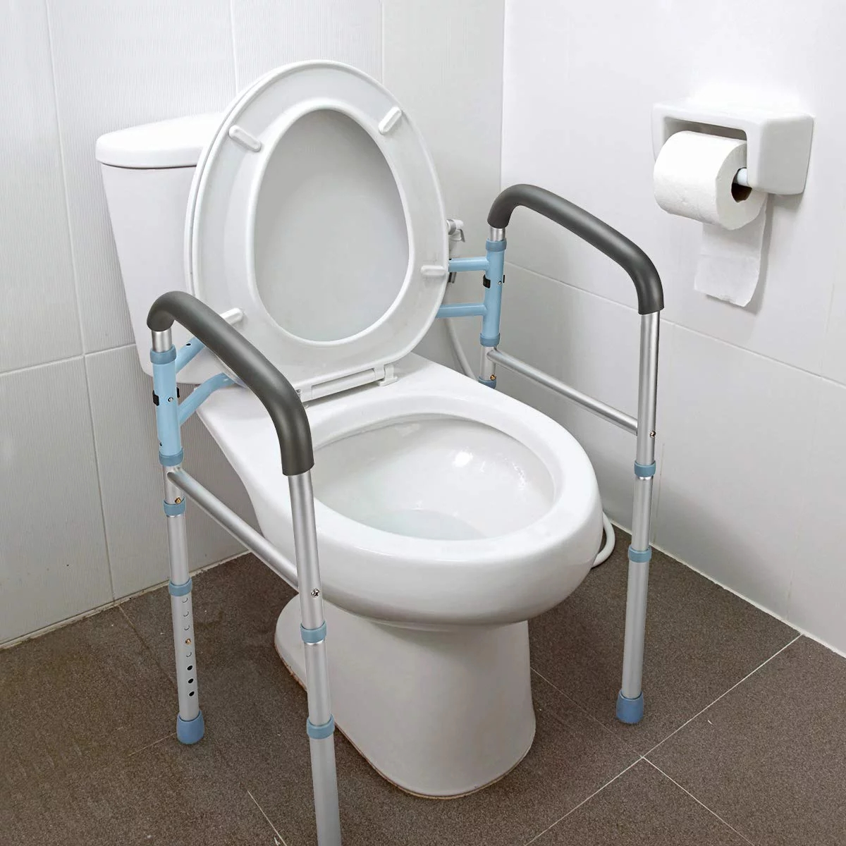 Oasisspace Stand Alone Toilet Safety Rail Heavy Duty Medical | Outside Handrails For The Elderly | Foshan Demose | Industrial Handrail | Metal Stair Handrail | Front Porch | Wrought Iron