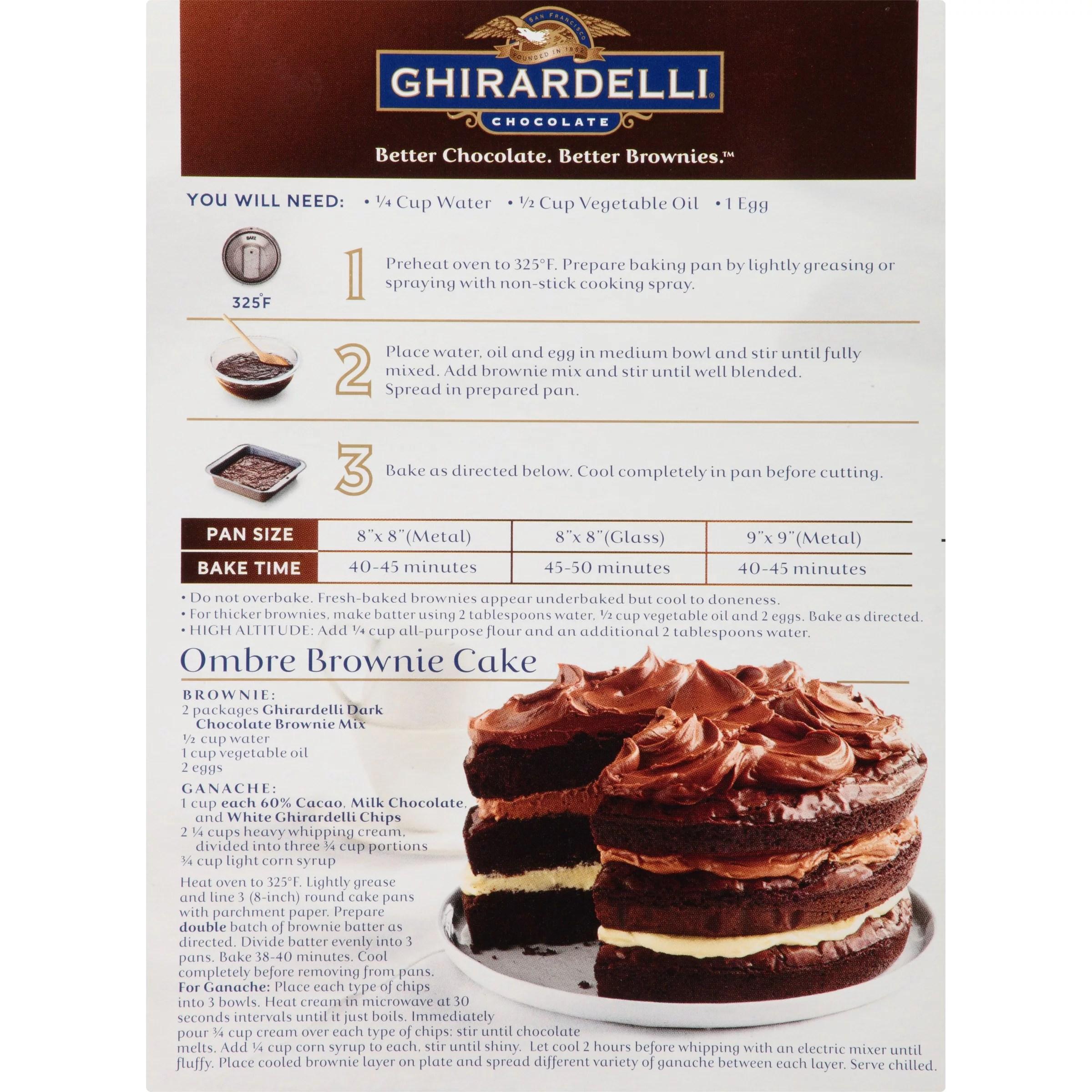 Recipes Using Ghirardelli Dark Chocolate Brownie Mix