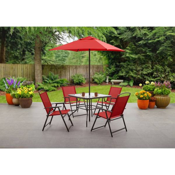 Mainstays Albany Lane 6 Piece Folding Dining Set  Multiple Colors     Mainstays Albany Lane 6 Piece Folding Dining Set  Multiple Colors    Walmart com