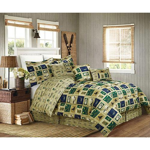 Cabin Fishing Hunting Lake House Ducks King Comforter Set