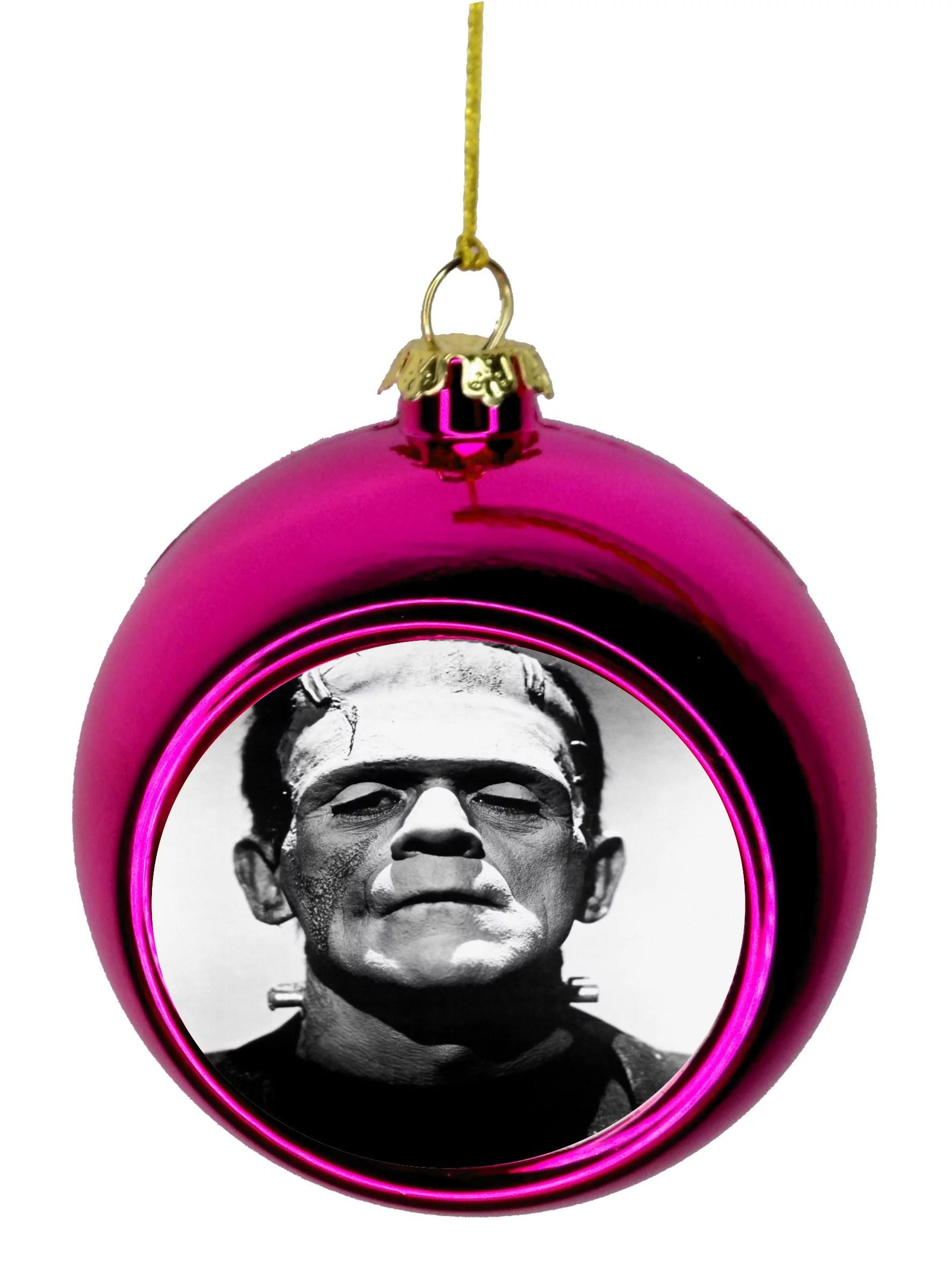 Frankenstein's Monster Bauble Christmas Ornaments Pink ...