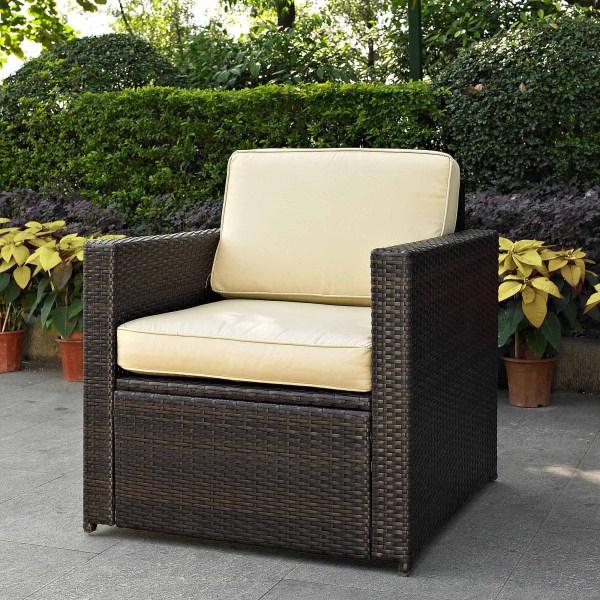 Patio Sense Deluxe Coconino Wicker Chair   Walmart com