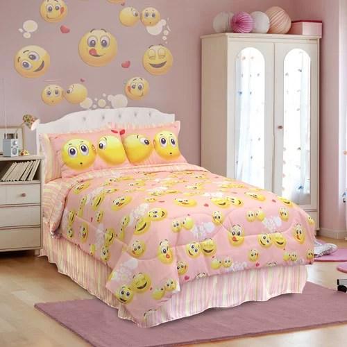 Veratex Emoji Bedding Comforter Set Walmart Com