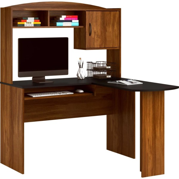 Mainstays L Shaped Desk with Hutch  Multiple Colors   Walmart com