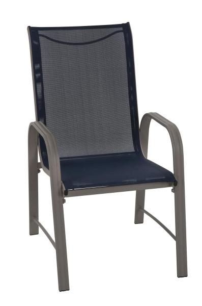 COSCO Outdoor Living Paloma Steel Patio Dining Chairs  Navy Blue     COSCO Outdoor Living Paloma Steel Patio Dining Chairs  Navy Blue Sling   Sand Steel Frame