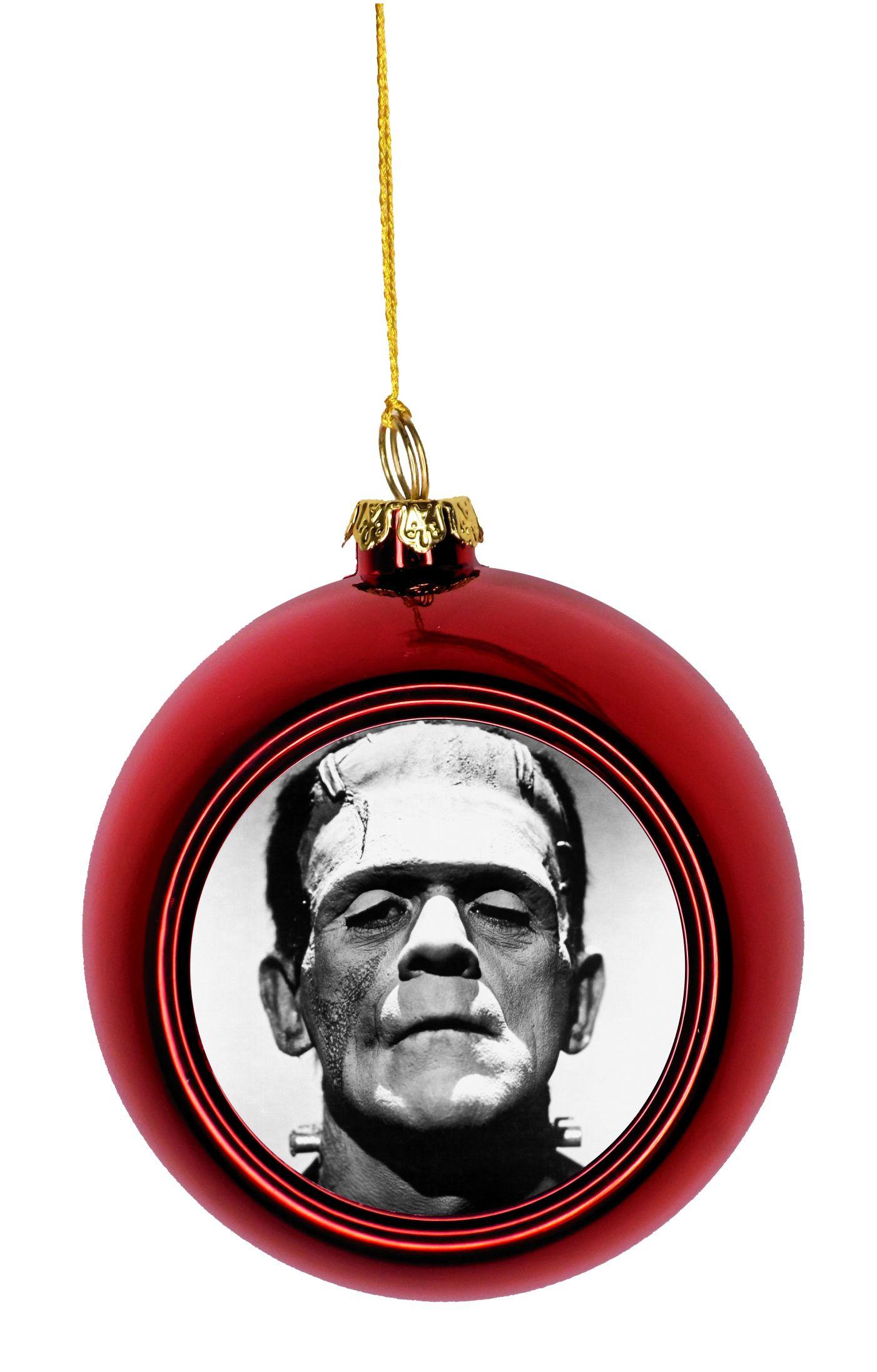 Frankenstein's Monster Bauble Christmas Ornaments Red ...