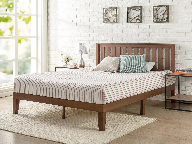 Zinus Vivek 12 Quot Wood Platform Bed With Headboard Antique