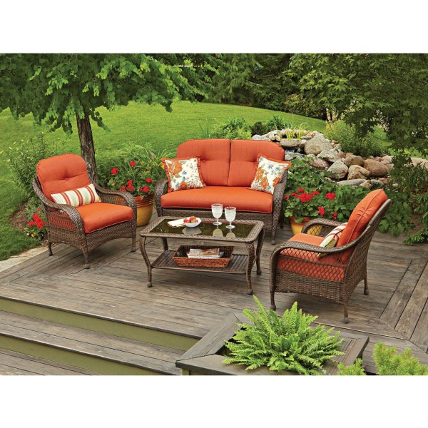 Better Homes and Gardens Azalea Ridge Outdoor Conversation Set     Better Homes and Gardens Azalea Ridge Outdoor Conversation Set   Walmart com