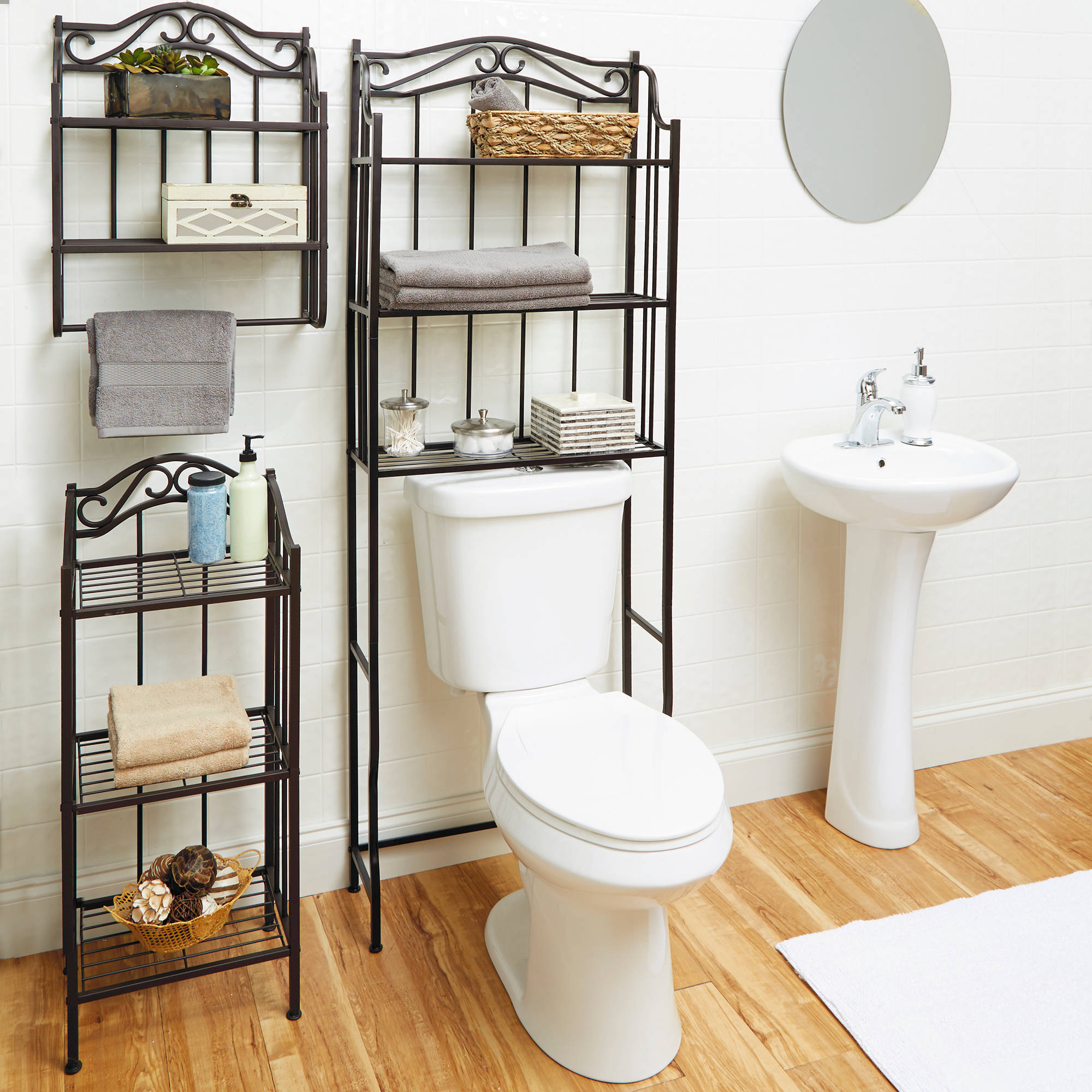 Over The Toilet Bathroom Organizer 3 Shelf Space Saver ...