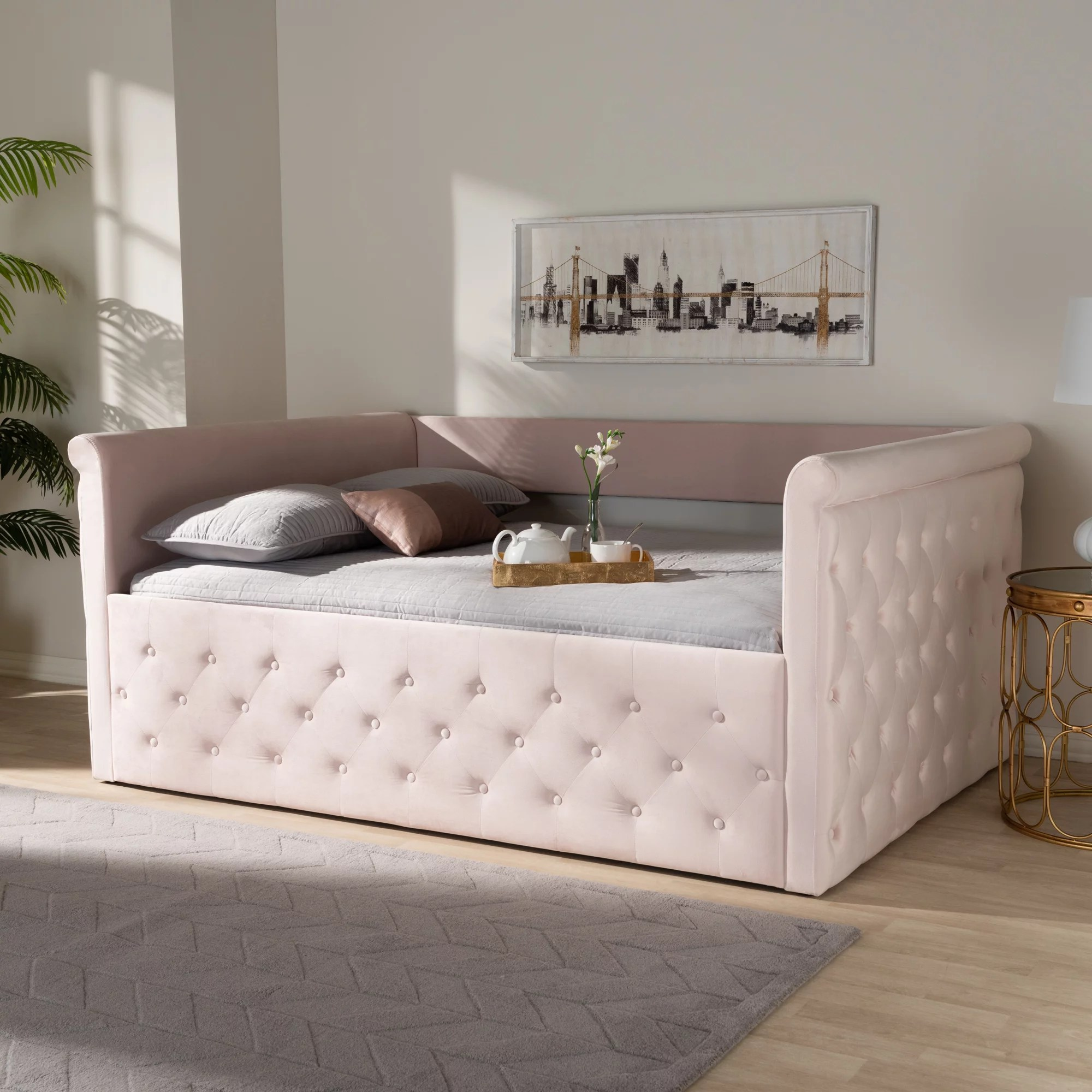 Baxton Studio Amaya Modern And Contemporary Light Pink