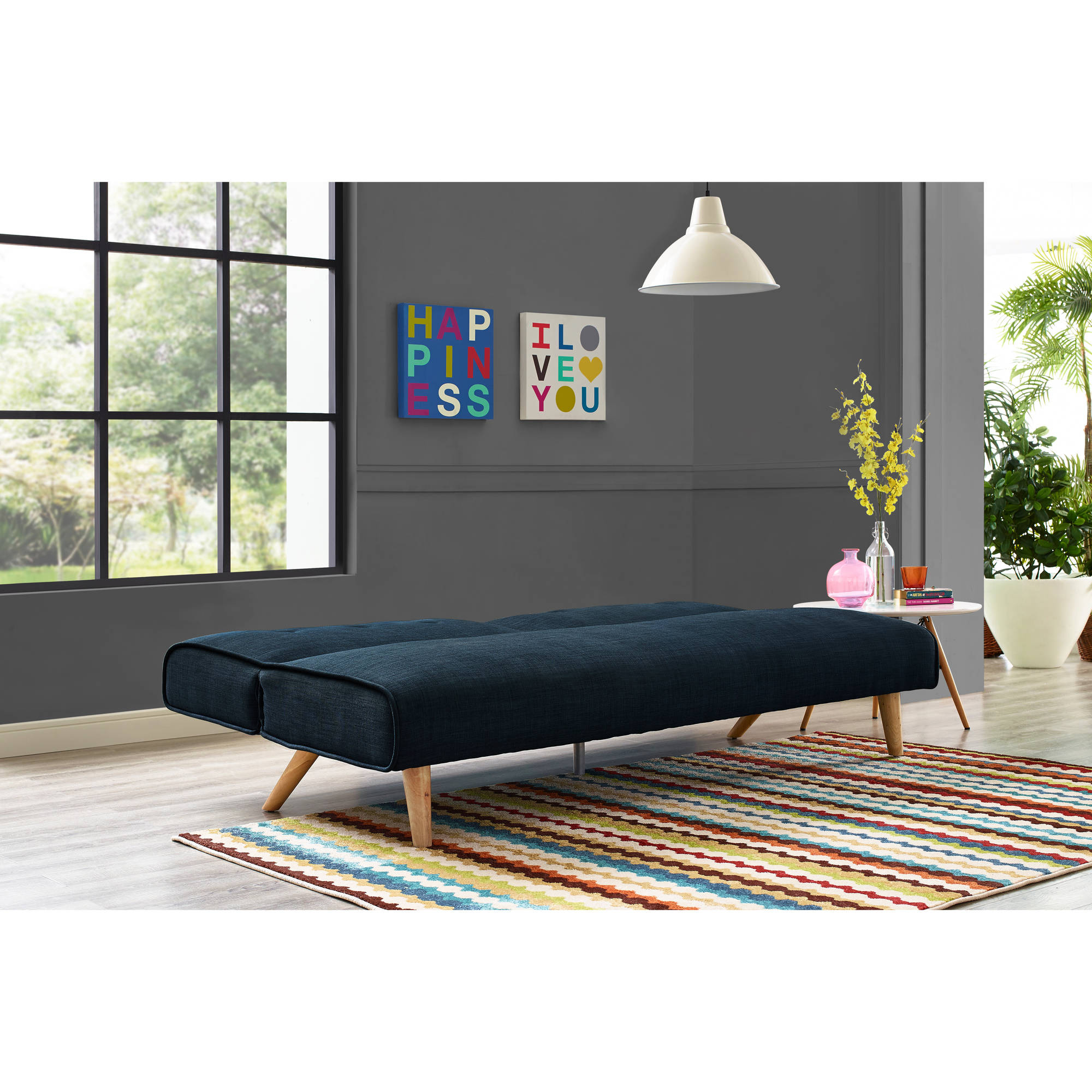 9 by Novogratz Palm Springs Futon  Multiple Colors   Walmart com