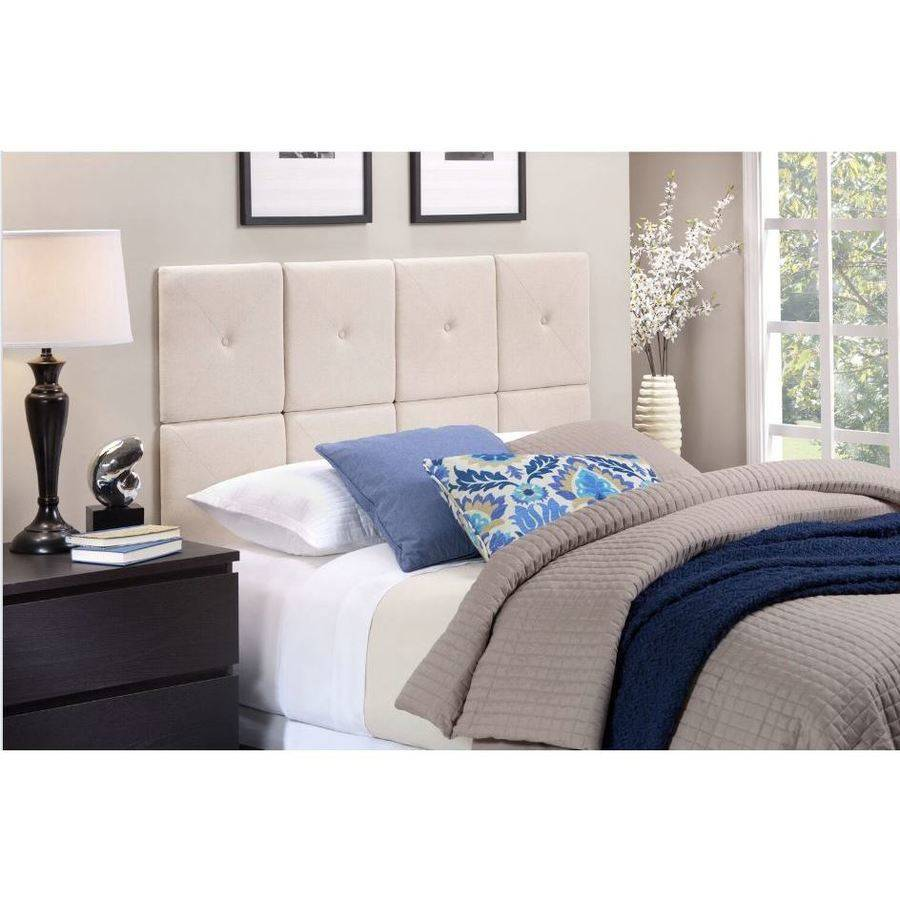 Foremost Tessa Natural Linen Tiled Headboard with X Seam and Tuft     Foremost Tessa Natural Linen Tiled Headboard with X Seam and Tuft   Twin  Size   Walmart com