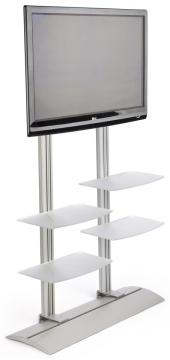 LCD TV Stand with 4 Acrylic Shelves holds Monitors 42 to 60 Inches     LCD TV Stand with 4 Acrylic Shelves holds Monitors 42 to 60 Inches   Adjustable