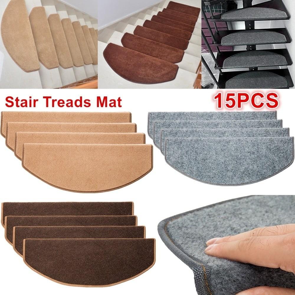 15 Pcs Stair Tread Carpet Mats Step Staircase Non Slip Mat Stair   Walmart Outdoor Stair Treads   Rubber Stair   Rubber Backed   Walmart Com   Step Mats   Anti Slip
