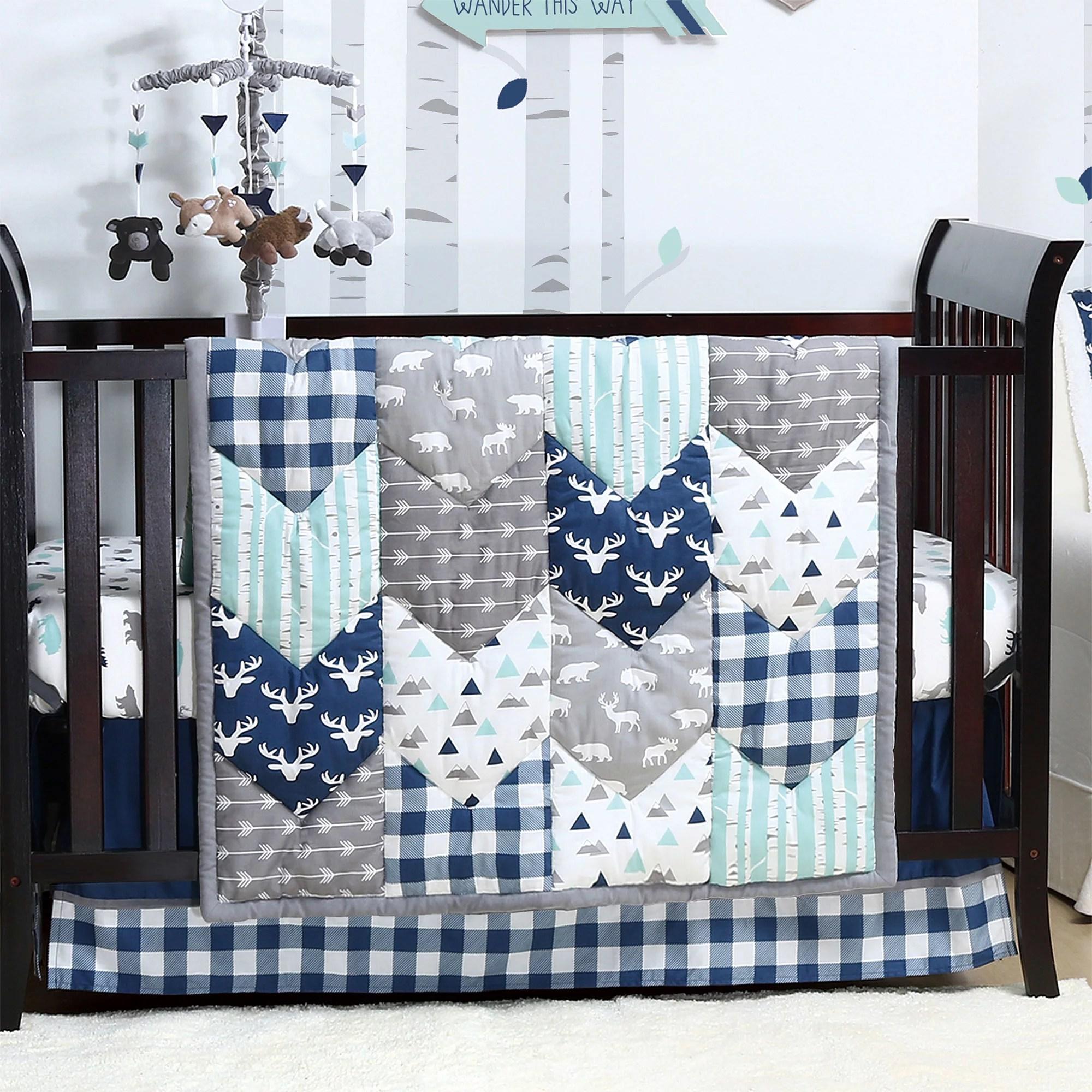 Woodland Trail Forest Animal Baby Boy Crib Bedding - 20 ...