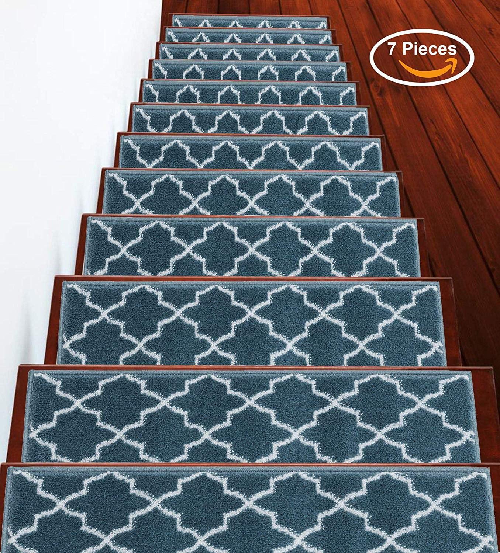 Stairs Treads Anti Slip Stair Treads Non Slip Stair Treads | Indoor Outdoor Stair Runner | Antelope | Contemporary | Dash | Classic | Herringbone