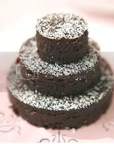 Chocolate Brownie Wedding Cake       CakeCentral com Image