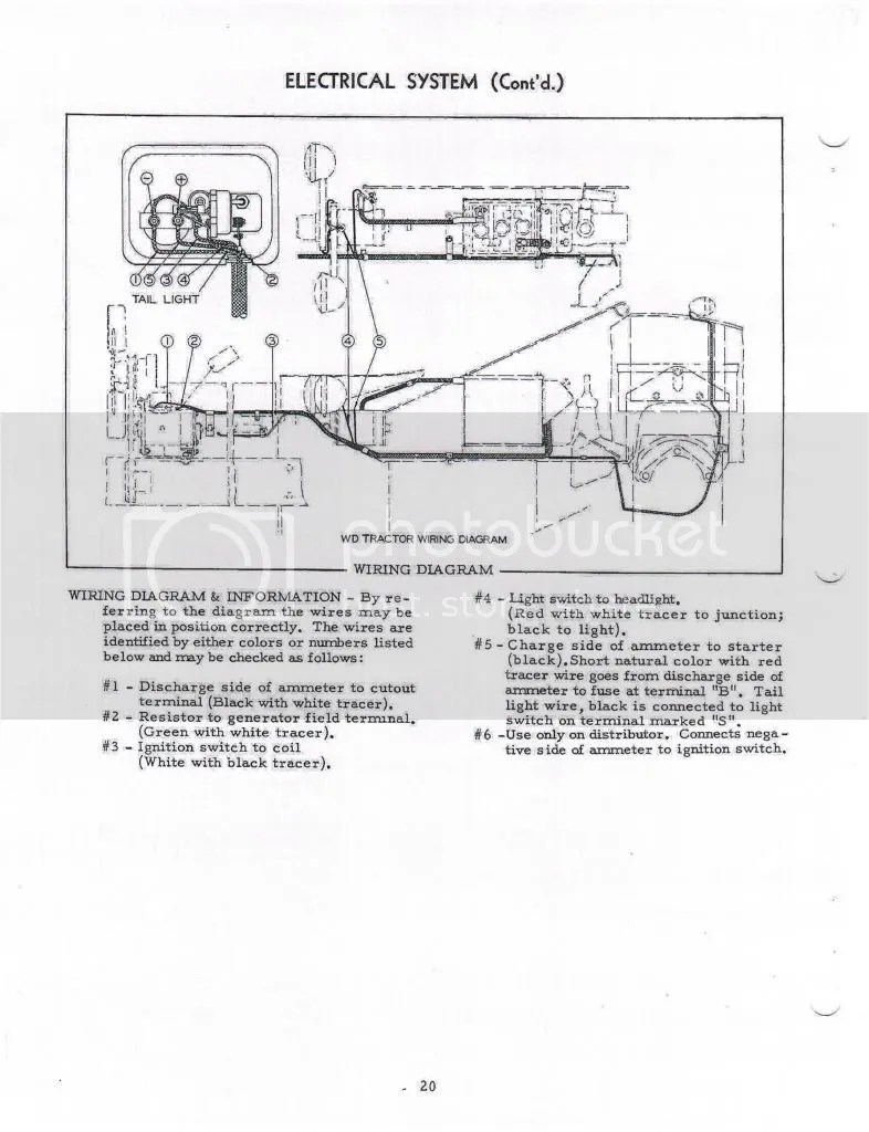 free download wiring diagram: Wd Wd45 Wiring Harness Routing Allischalmers Forum of Ac Wd Wiring