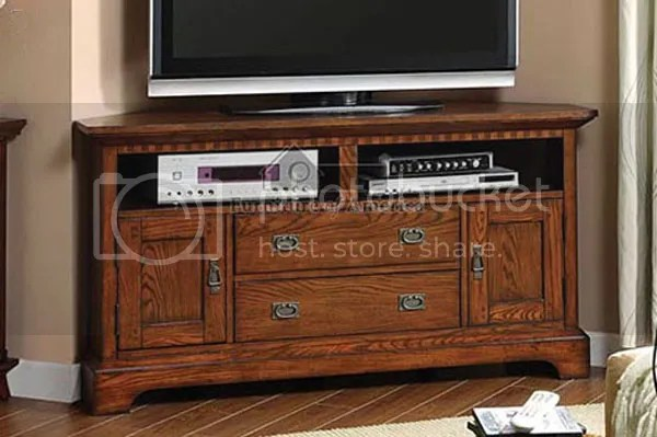 Corner Mission Style Oak Tv Stand