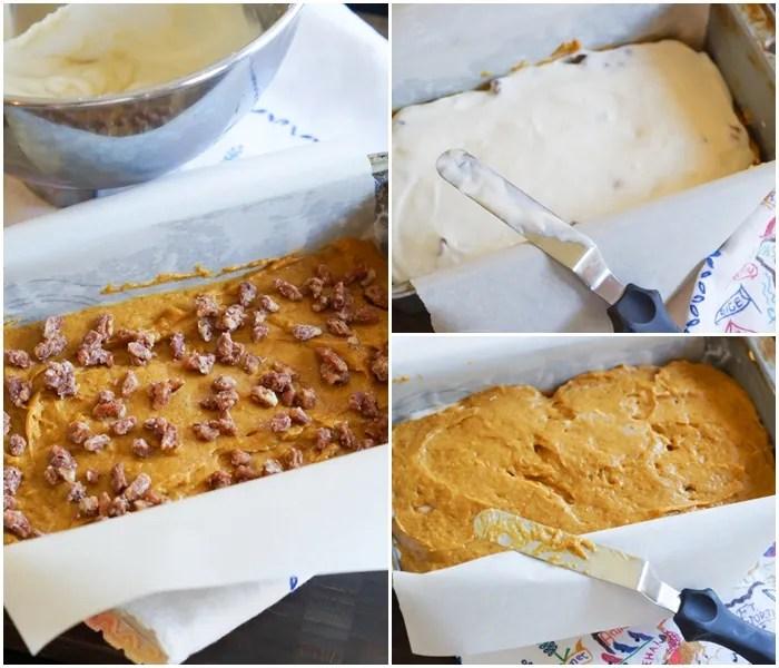 Layer Cream Cheese Pumpkin Bread