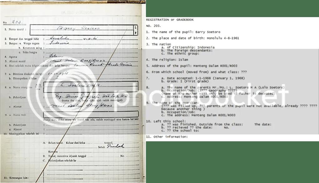 Barry Soetoro Birth Certificate Did Have