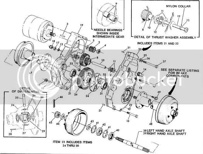 Ezgo Electric Golf Cart Rear End Diagram