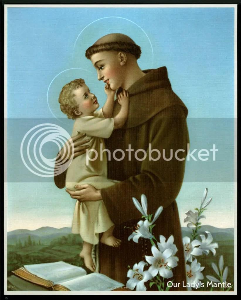 St Anthony Of Padua With Child Jesus 8x10 Catholic Art