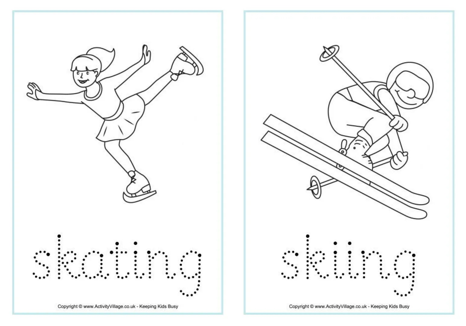 Winter Sheets Olympic Coloring