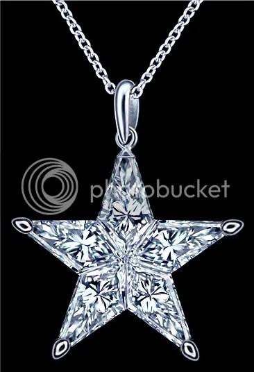 0 38 Ct Natural Star Diamond Made Of 5 Kite Cut Diamonds