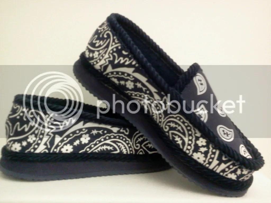 Blue Bandana House Slippers