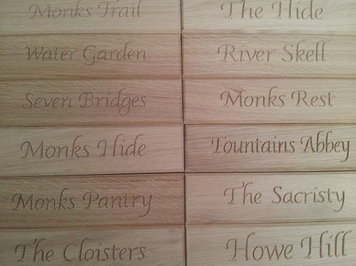 Carved Door Plaques. Oak. Private Client.