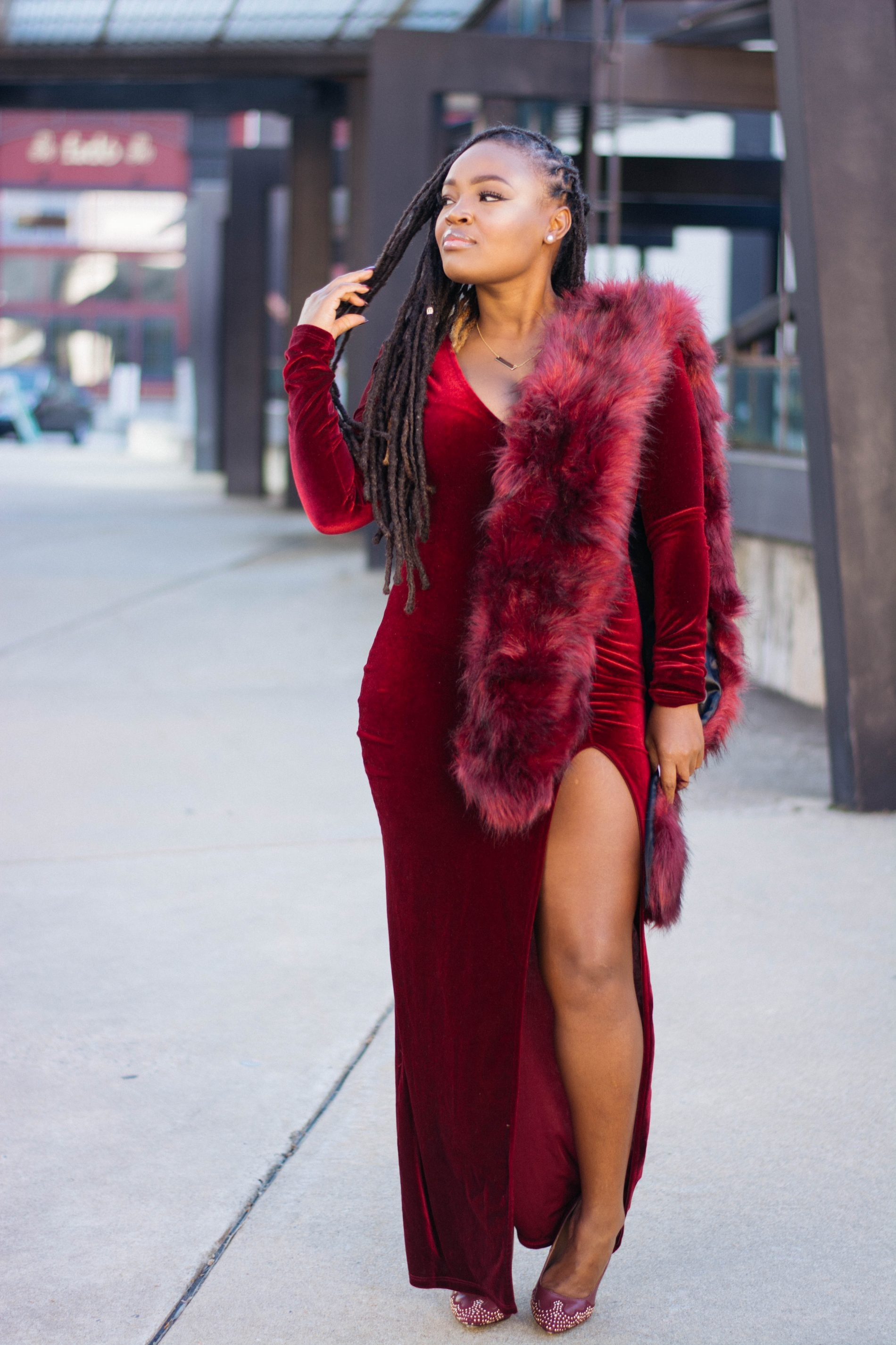 BLOGVERSARY  RED EVERYTHING FASHION NOVA DRESS