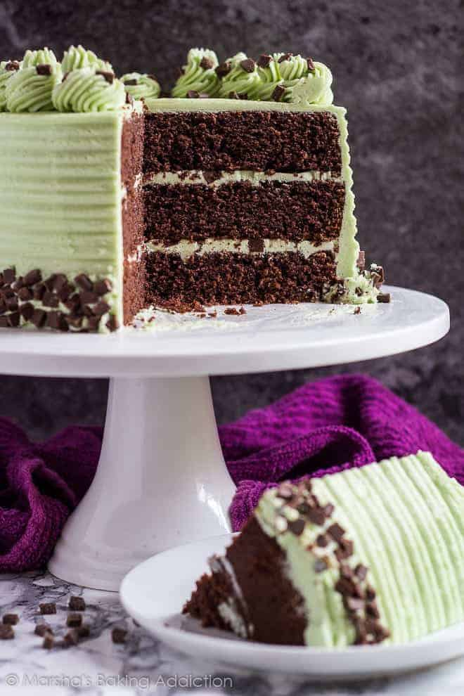 Mint Chocolate Chip Layer Cake I Am Baker