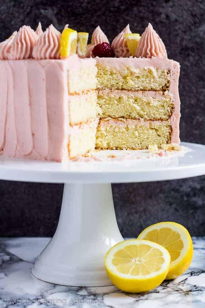 Lemon Raspberry Layer Cake I Am Baker
