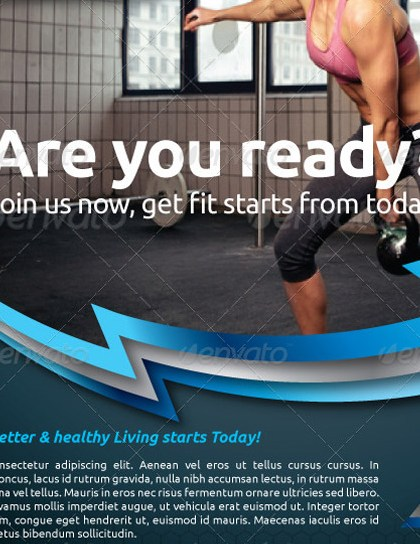HD Decor Images » 25 Best Gym Flyer and Brochure Templates Fitness Flyer Vol 6